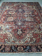 Load image into Gallery viewer, Vintage Persian Heriz Rug 10x12.3