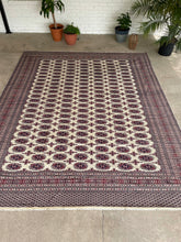 "Load image into Gallery viewer, Vintage Hand Knotted Pakistani Bokhara Rug 9'4""x11'4"""