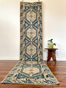 "Vintage Turkish Dosemelti Runner 2'4"" x9'10"""