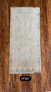 "Vintage Turkish Yastik 19""x41"""