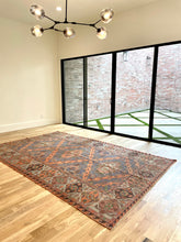 "Load image into Gallery viewer, Vintage Caucasian Soumak Rug 7'5""x12'"