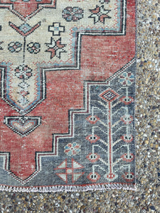 Vintage Turkish Runner 2.5'x7.2'