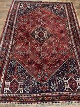 "Load image into Gallery viewer, Vintage Persian Shiraz Rug 5'9"" x 8'2"""