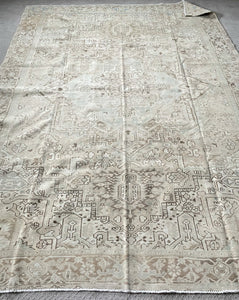 Semi Antique Persian Heriz Rug 9'x12'