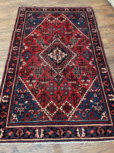 "Load image into Gallery viewer, Vintage Persian shiraz Rug 4'1"" x6'6'"