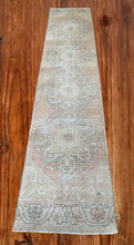 "Load image into Gallery viewer, Vintage Handknotted Turkish Runner 2'3""x10'3"""