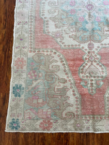 Vintage Turkish Rug 4.7'x7.6'
