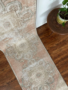 "Vintage Handknotted Turkish Runner 2'3""x10'3"""