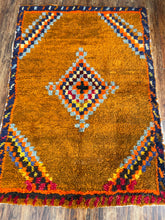 "Load image into Gallery viewer, Vintage Turkish Tulu Rug 3'8""x5'3"""