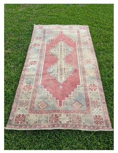 Vintage Wide Turkish Runner 3.8'x7'