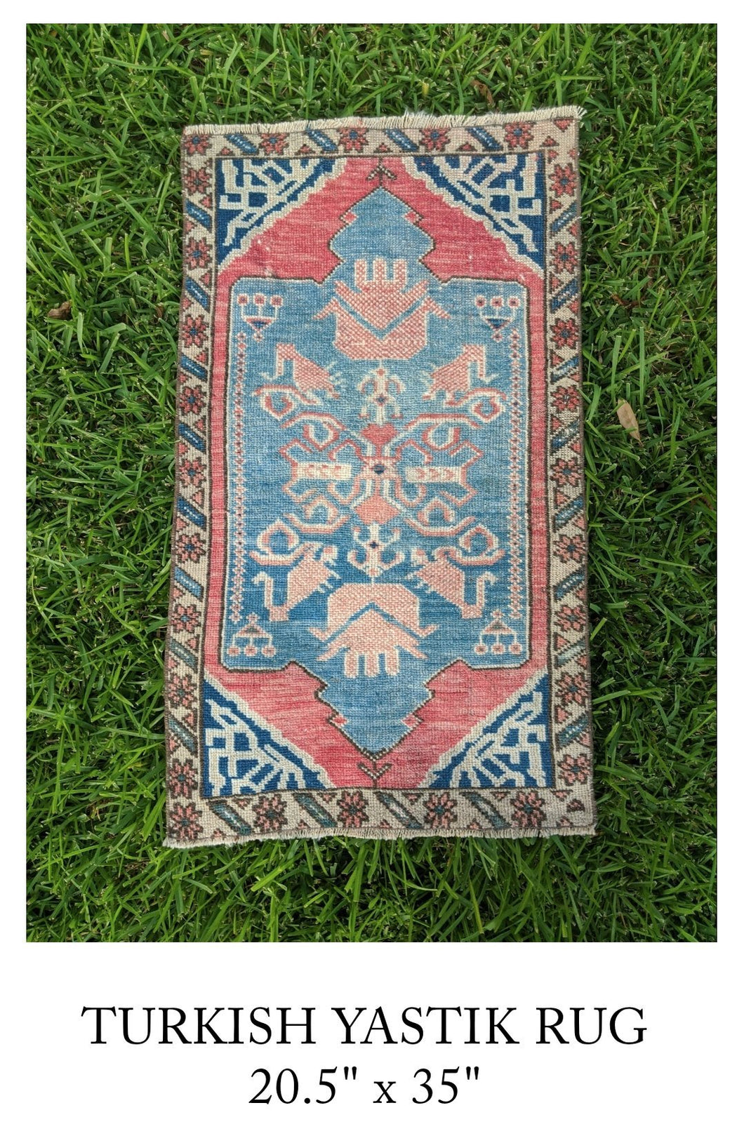 Vintage Turkish Yastik Rug
