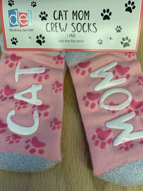 Cat Mom Crew Socks