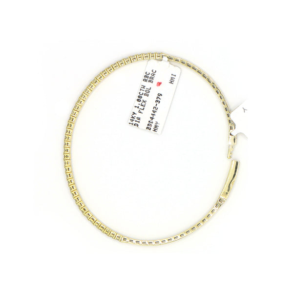 Diamond Bangle Bracelet In 14 Karat Yellow Gold  ( 1.00ct dtw )