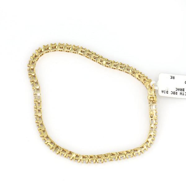 Diamond Tennis Bracelet In 14 Karat Yellow Gold ( 4.00ct dtw )