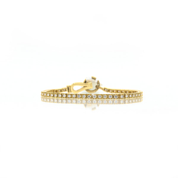 Diamond Tennis Bracelet In 14 Karat Yellow Gold ( 1.95ct dtw )