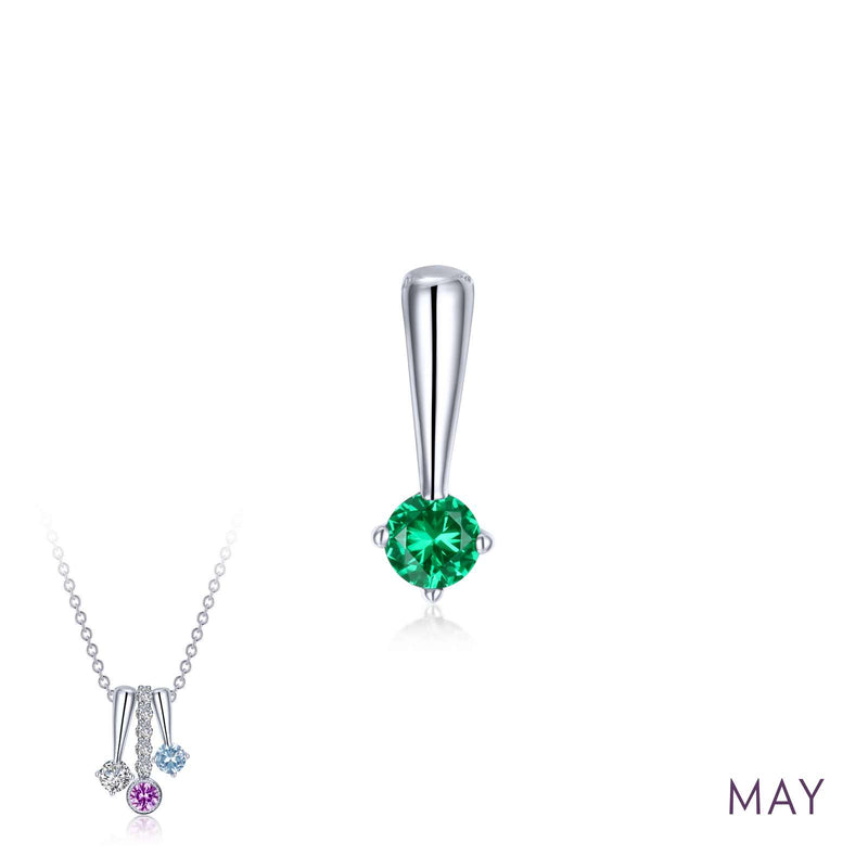 Lafonn May Birthstone Love Pendant