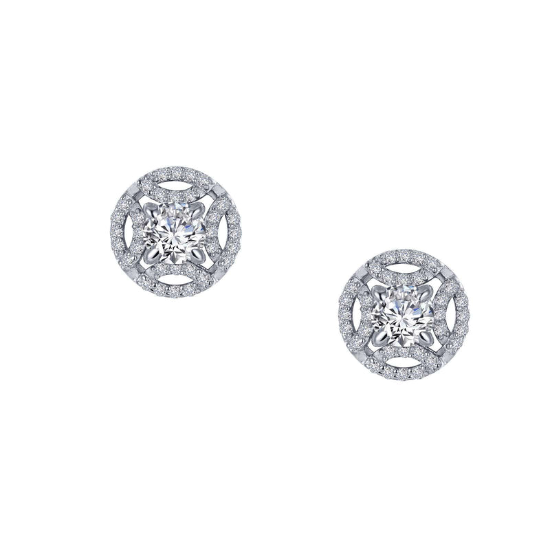 Lafonn Classy Button Stud Earrings