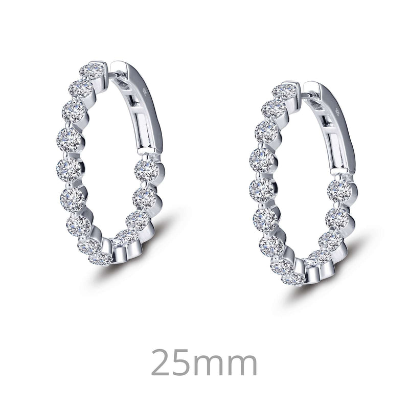 Lafonn 3.08 CTW Hoop Earrings
