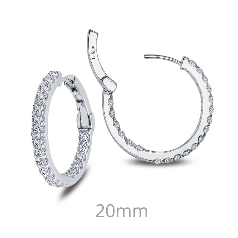 Lafonn 1.6 CTW Hoop Earrings