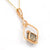 Glamorous 14K Rose Gold Smoky Quartz Diamond Pendant