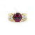 Memorable 14K Yellow Gold Rhodolite Garnet Diamond Ring (1.17ct Carat Diamond Weight)