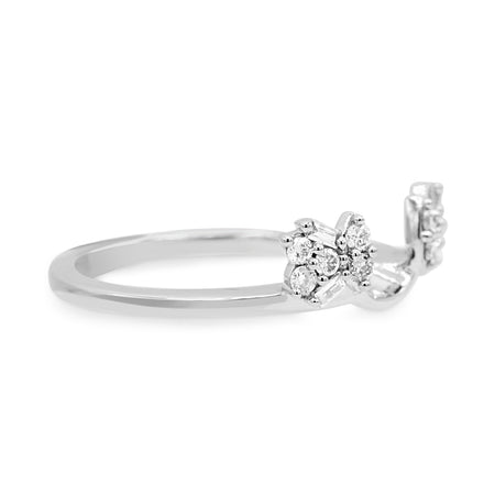 Stunning 14K White Gold Round Brilliant Cut Diamond Ring Enhancer (0.25ct Carat Diamond Weight)