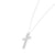 Jaw Dropping 14K White Gold Round Brilliant Cut Diamond Cross Pendant Necklace (0.50ct Carat Diamond Weight)