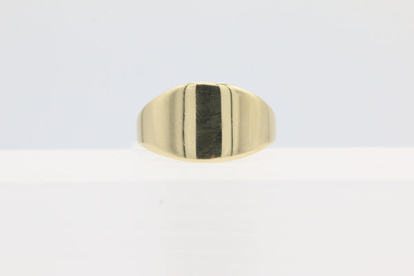 14K Yellow Gold Wide Band Graduated Ring