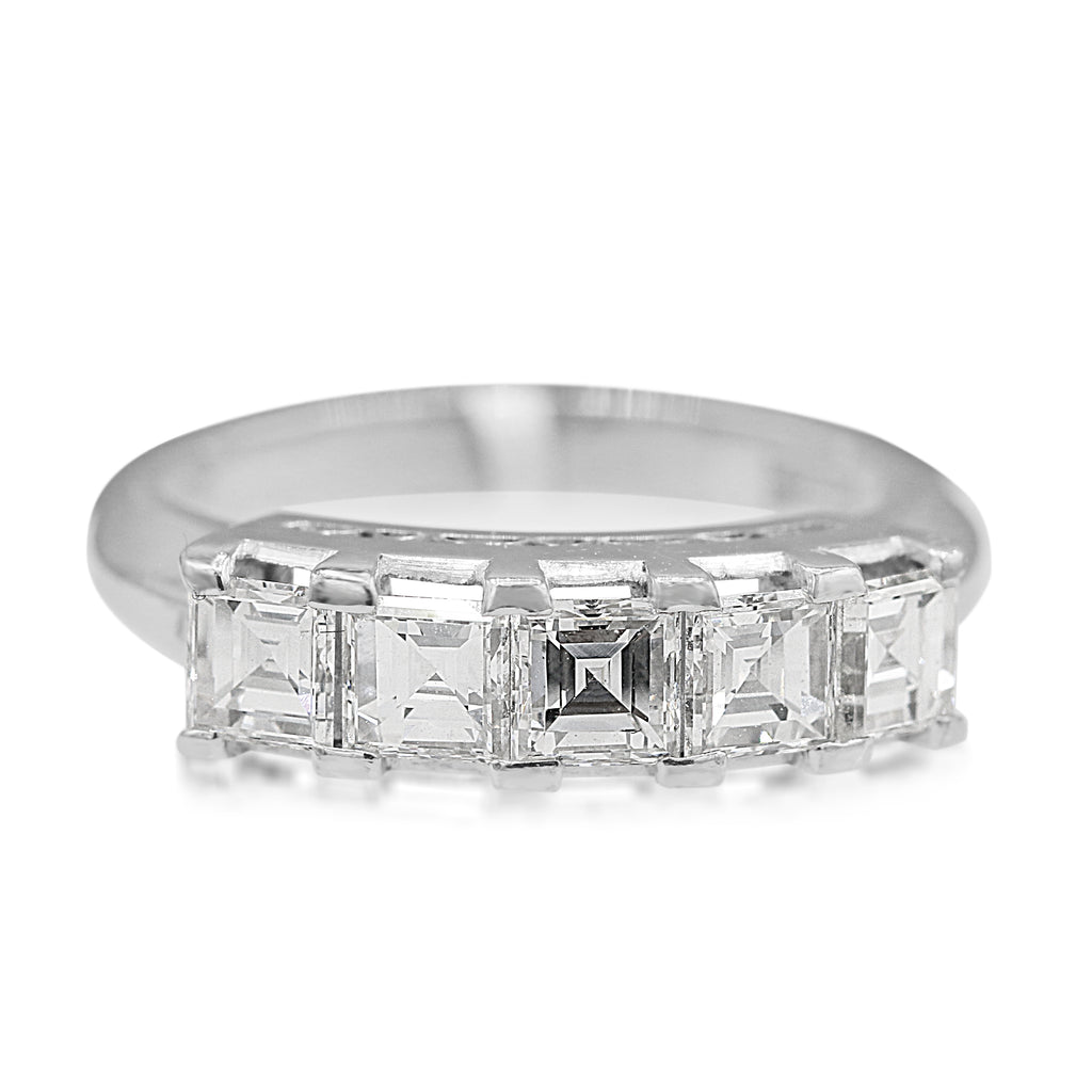 Jaw Dropping Platinum Emerald Cut Diamond Band (1.25ct Carat Diamond Weight)
