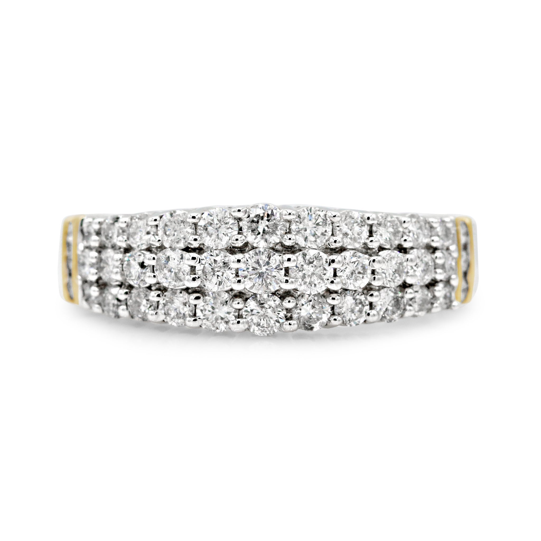 Ethereal 14K Two-Tone Diamond Pave Band