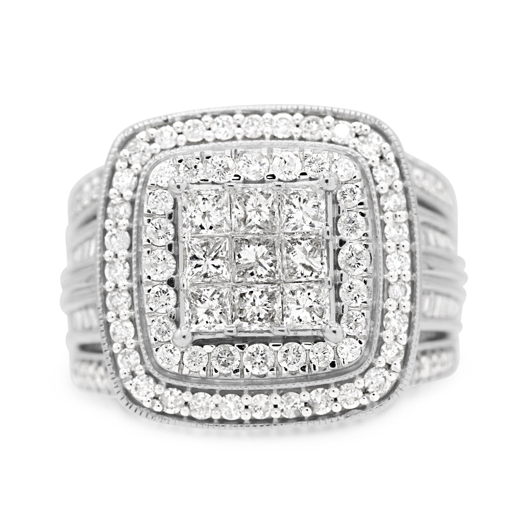 Stunning Baguette Cluster Diamond Ring (2.00ct Carat Diamond Weight)