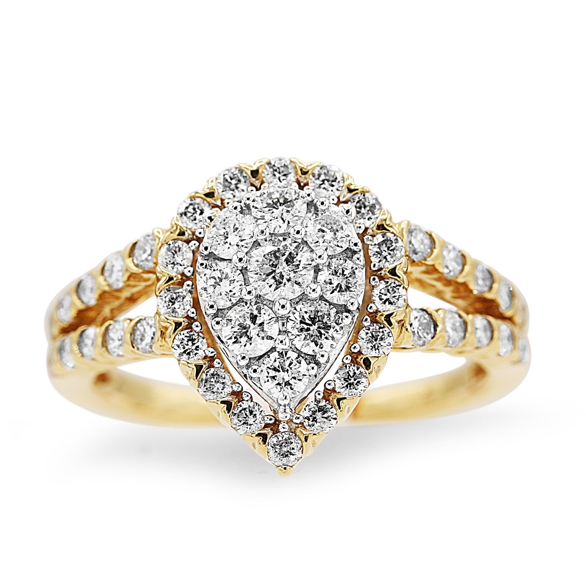 Sparkling 14k Pear Shaped Cluster Diamond Ring from Gainesville Jewelry Georgia