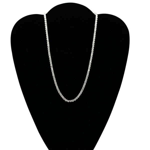 Diamond Tennis Necklace In 18 Karat White Gold ( 15.90ct dtw )