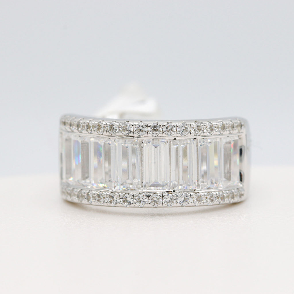 Refined Lafonn Sterling Silver Bonded with Platinum Band (2.83ct Simulated Diamonds)