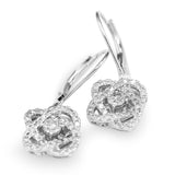Diamond Love's Crossing Dangle Earrings In 14 Karat White Gold ( 1ct dtw  )