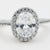 Intricate Lafonn Sterling Silver Bonded in Platinum Halo Ring (2.62ct Simulated Diamonds)