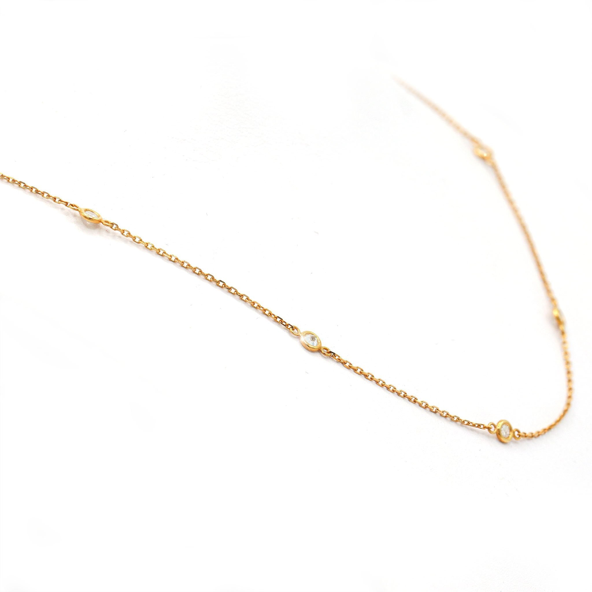 Captivating 14K Yellow Gold Diamond By The Yard Necklace (0.50ct Carat Diamond Weight)