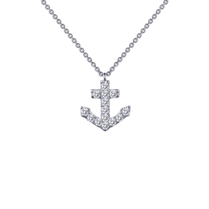Lafonn 0.42 CTW Anchor Necklace