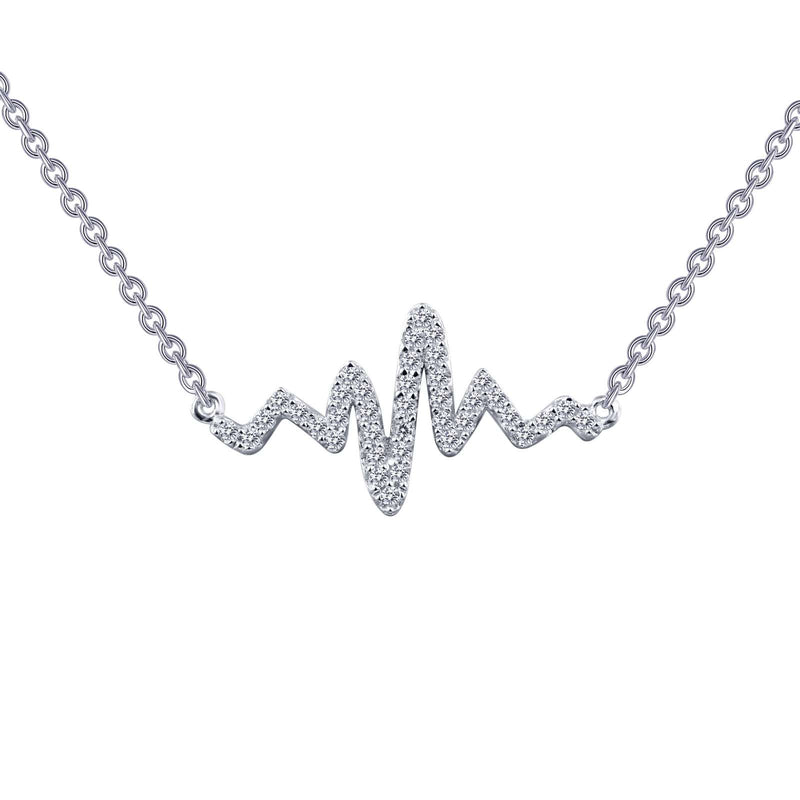 Lafonn 0.39 CTW Heartbeat Necklace