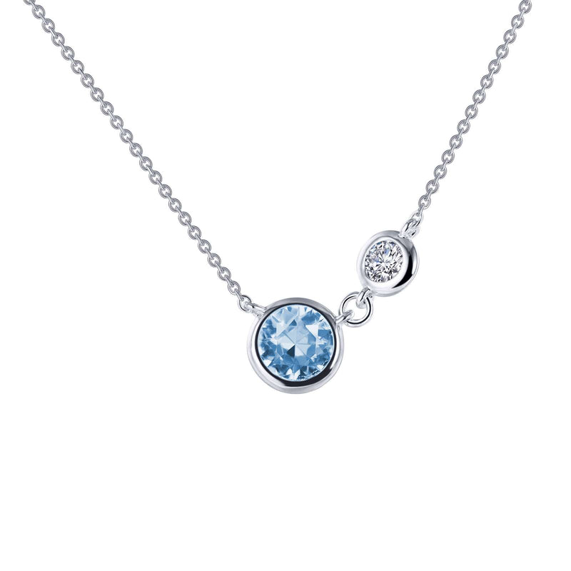 Lafonn Bezel Accented Solitaire Necklace