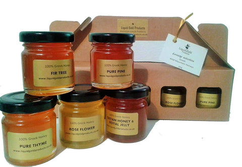 Taster gift set of 5 different Greek honeys