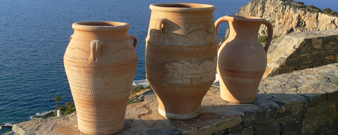 Cretan ceramic pots, pithoi, urns, amphora by Liquid Gold Products