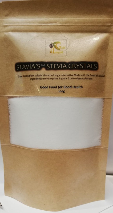 Stavia's™ Stevia & Fruit Sugar Granules 200g, by Liquid Gold Products