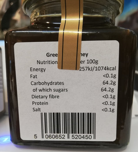 Greek oak tree honey 390g - nutritional information