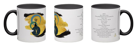 Aries - unique design modern zodiac mug with astrology information