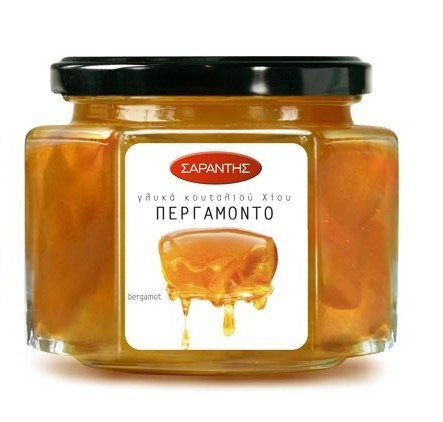 Greek bergamot compote, fruit topping, by Sarantis
