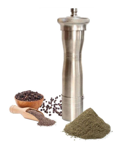Chef Athena - Greek hand made pepper mill grinder, ergonomic, 24cm, matt nickel no 753