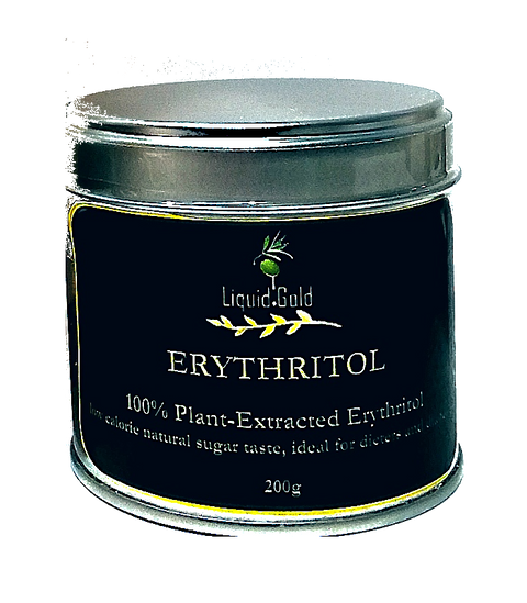 Erythritol granules, all natural plant-derived sugar-free sweetener, 200 gr handy tin