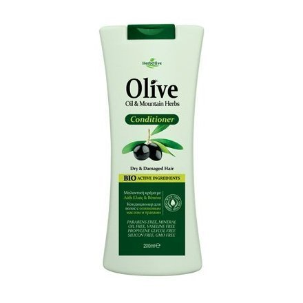 HerbOlive Conditioner with olive oil and bioactive ingredients, all hair types, 200 ml