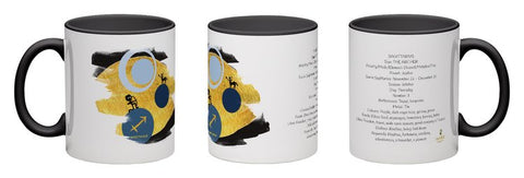 Sagittarius - unique design modern zodiac mug with astrology information